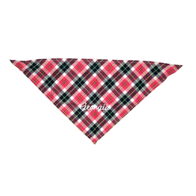 Small Dog Bandana - Pink Plaid