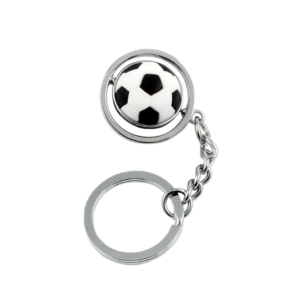 Spinning Soccer Ball Keychain