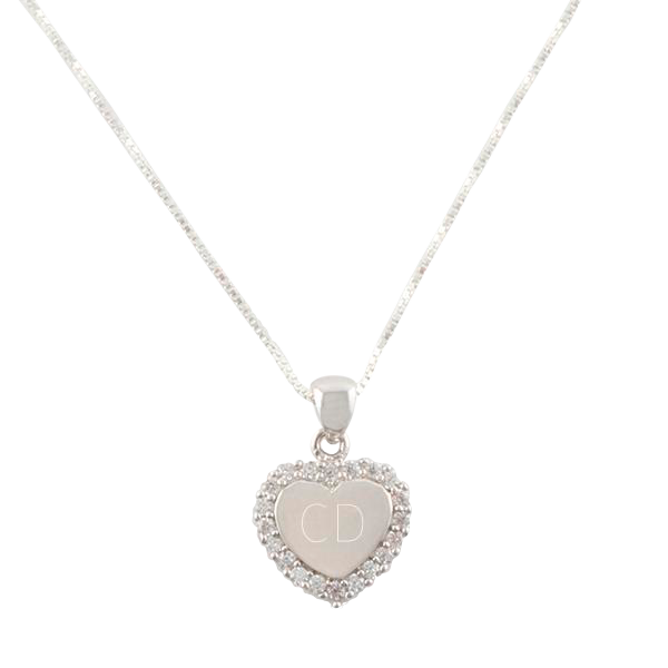 Sterling CZ Heart Necklace