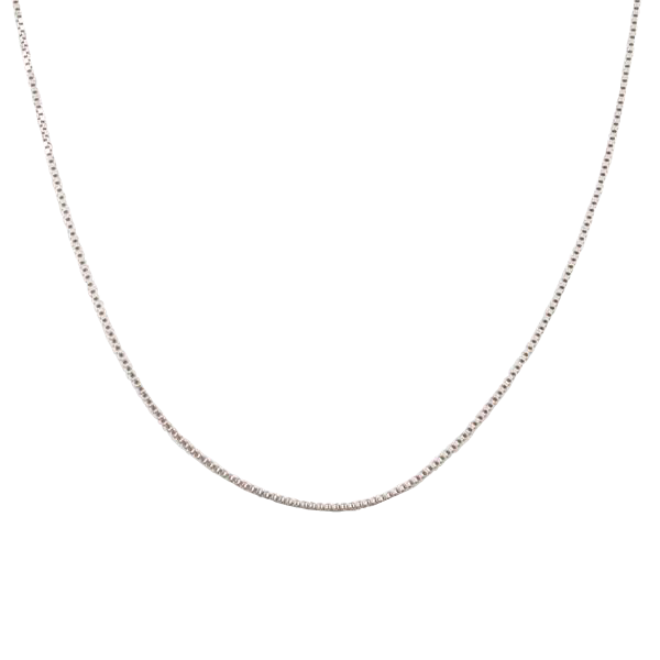Sterling Silver Box Chain Necklace 18""