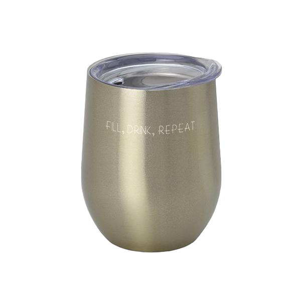 Swig - 12oz Stemless Wine Cup Gold With Lid