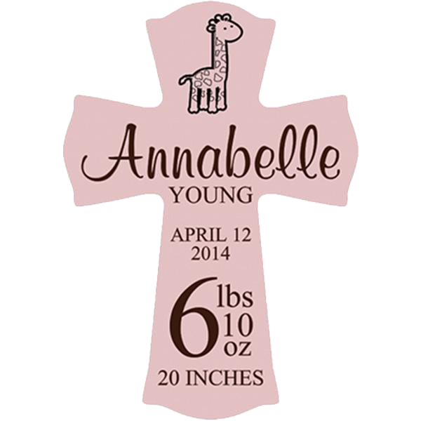 Wall Art - Pink Hanging Cross