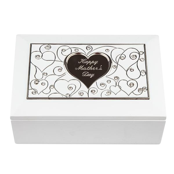 White Jewel Box with Recessed Heart