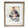 White Rustic Wood Frame - 5x7