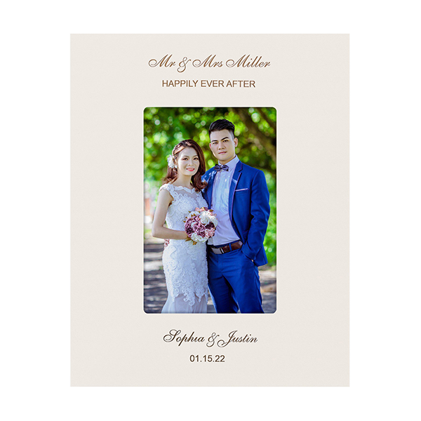White photo frame 5x7