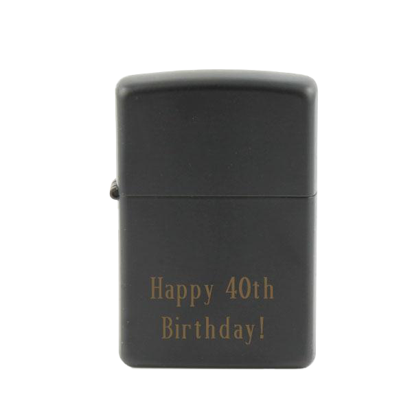 ZIPPO - All Black Matte Lighter