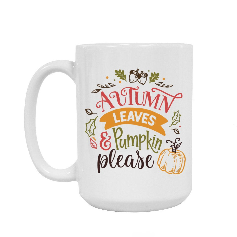 Fall ceramic mug 15oz