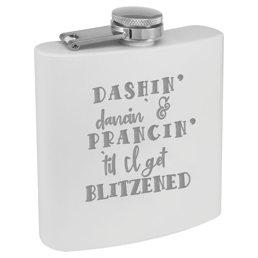 Christmas Flask White
