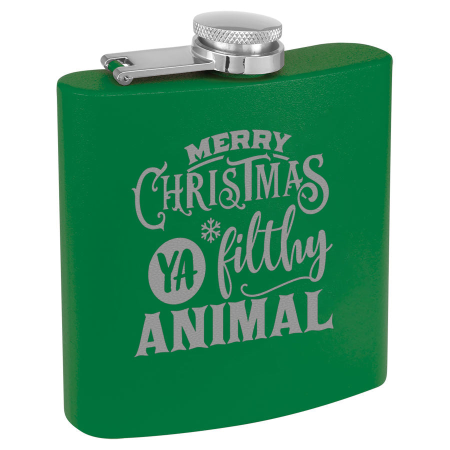 Christmas Flask Green