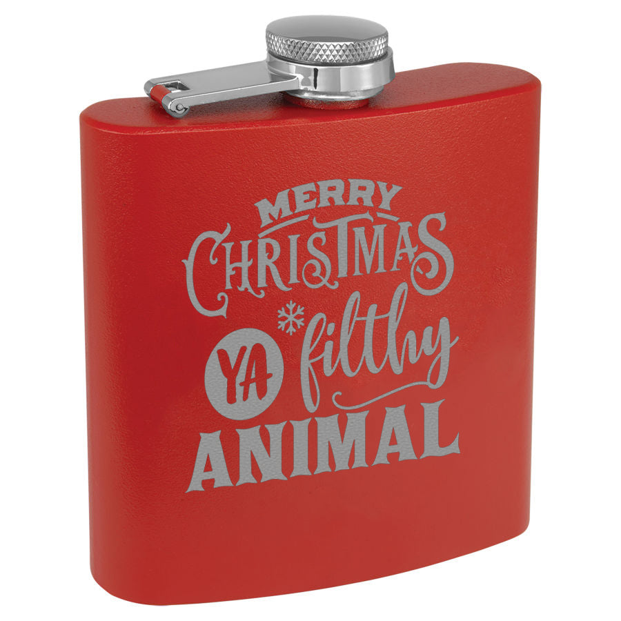 Christmas Flask Red