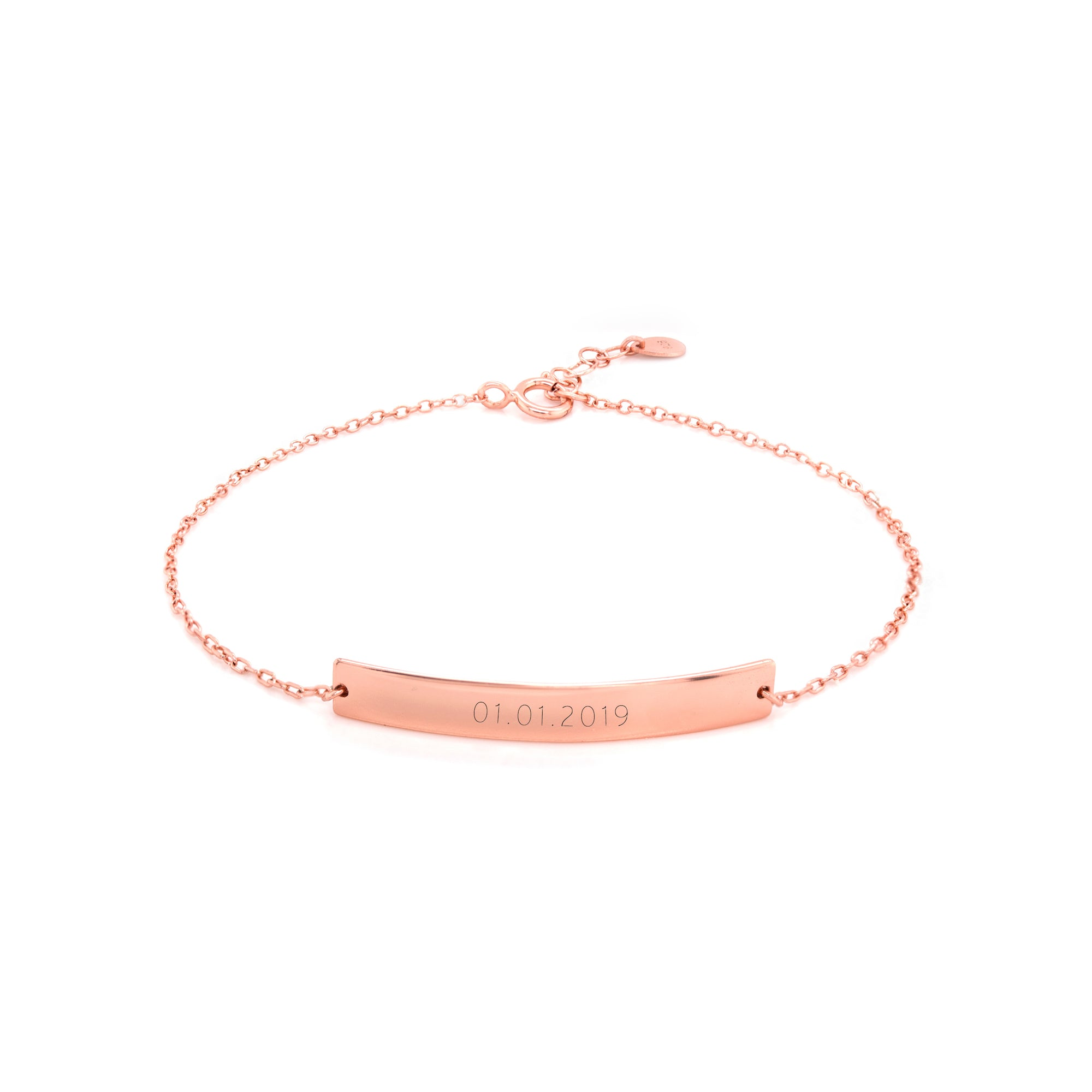Bar Bracelet Rose Gold