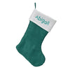 Personalized Christmas Stockings - Traditional Aqua