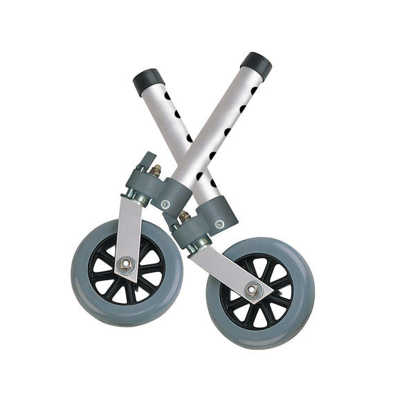 "Swivel Lock Walker Wheels, 5"", 1 Pair - Discount Homecare & Mobility Products"