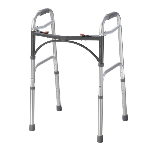 Deluxe Two Button Folding Walker - Discount Homecare & Mobility Products