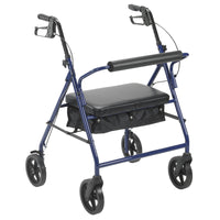 "Bariatric Rollator Rolling Walker with 8"" Wheels, Blue - Discount Homecare & Mobility Products"