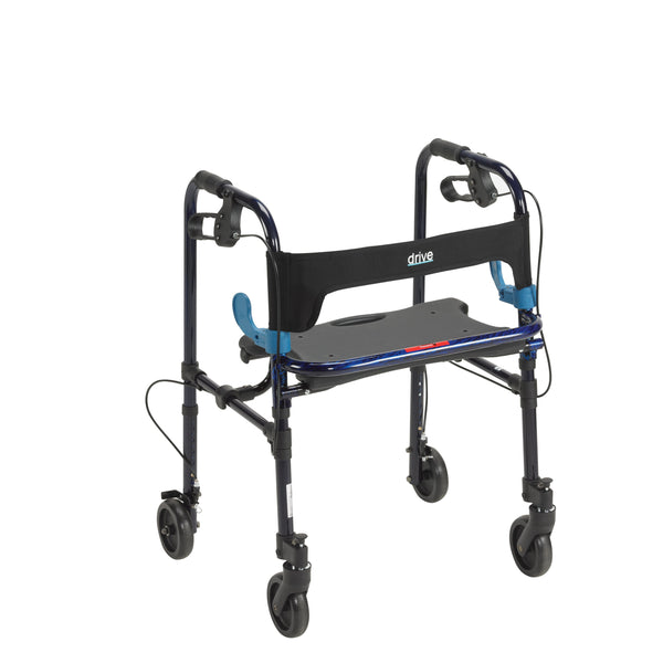 "Clever Lite Walker Rollator, Adult, 5"" Wheels, Flame Blue - Discount Homecare & Mobility Products"