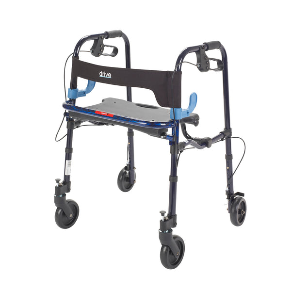 "Clever Lite Walker Rollator, Junior, 5"" Wheels, Flame Blue - Discount Homecare & Mobility Products"