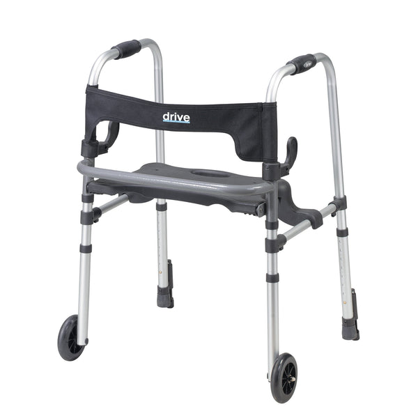 Clever Lite LS Walker Rollator with Seat and Push Down Brakes - Discount Homecare & Mobility Products