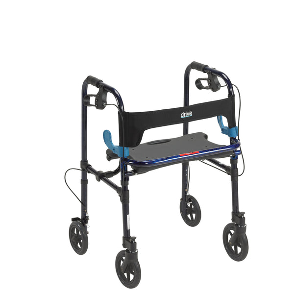 "Clever Lite Walker Rollator, Adult, 8"" Wheels, Flame Blue - Discount Homecare & Mobility Products"