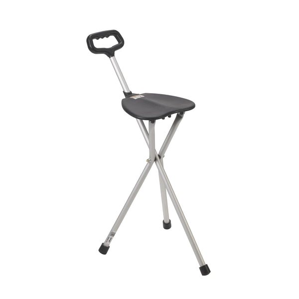 Folding Lightweight Cane Seat, Silver - Discount Homecare & Mobility Products
