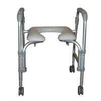 Lightweight Portable Shower Commode Chair with Casters - Discount Homecare & Mobility Products