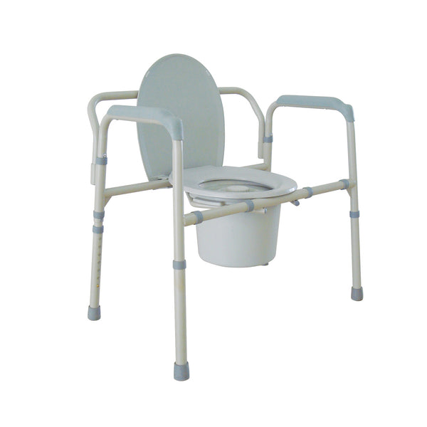 Heavy Duty Bariatric Folding Bedside Commode Chair - Discount Homecare & Mobility Products