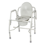 Steel Drop Arm Bedside Commode with Padded Arms - Discount Homecare & Mobility Products