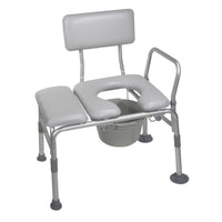 Padded Seat Transfer Bench with Commode Opening - Discount Homecare & Mobility Products