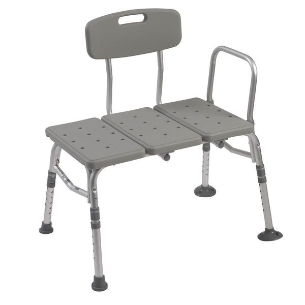 Plastic Tub Transfer Bench with Adjustable Backrest - Discount Homecare & Mobility Products