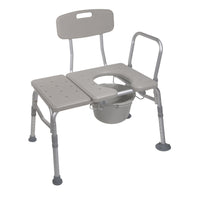 Combination Plastic Transfer Bench with Commode Opening - Discount Homecare & Mobility Products