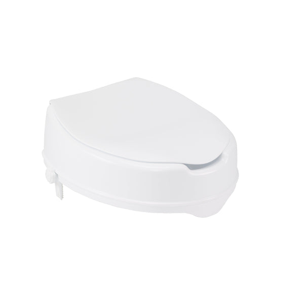 "Raised Toilet Seat with Lock and Lid, Standard Seat, 2"" - Discount Homecare & Mobility Products"