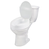 "Raised Toilet Seat with Lock and Lid, Standard Seat, 4"" - Discount Homecare & Mobility Products"