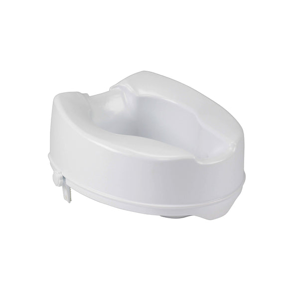 "Raised Toilet Seat with Lock, Standard Seat, 6"" - Discount Homecare & Mobility Products"