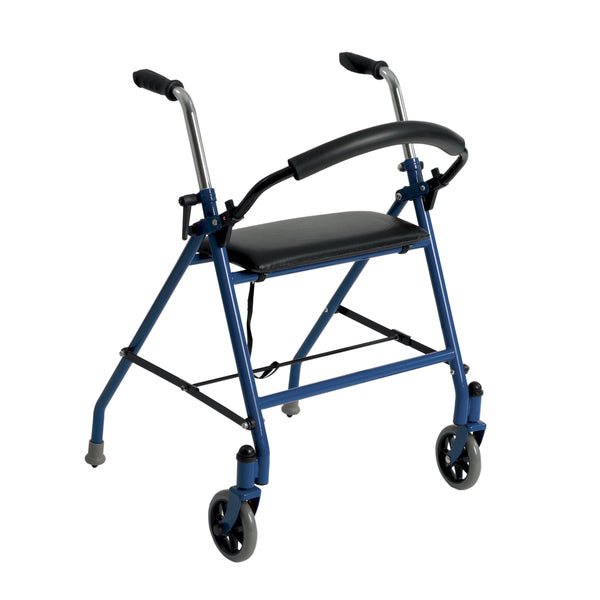 Two Wheeled Walker with Seat, Blue - Discount Homecare & Mobility Products