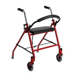 Two Wheeled Walker with Seat, Red - Discount Homecare & Mobility Products