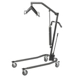 "Hydraulic Patient Lift with Six Point Cradle, 5"" Casters, Silver Vein - Discount Homecare & Mobility Products"