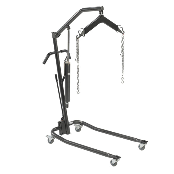 "Hydraulic Patient Lift with Six Point Cradle, 3"" Casters, Silver Vein - Discount Homecare & Mobility Products"