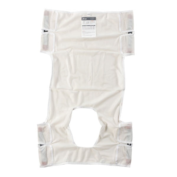 Patient Lift Sling, Polyester Mesh with Commode Cutout - Discount Homecare & Mobility Products
