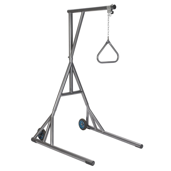 Heavy Duty Trapeze with Base and Wheels, Silver Vein - Discount Homecare & Mobility Products