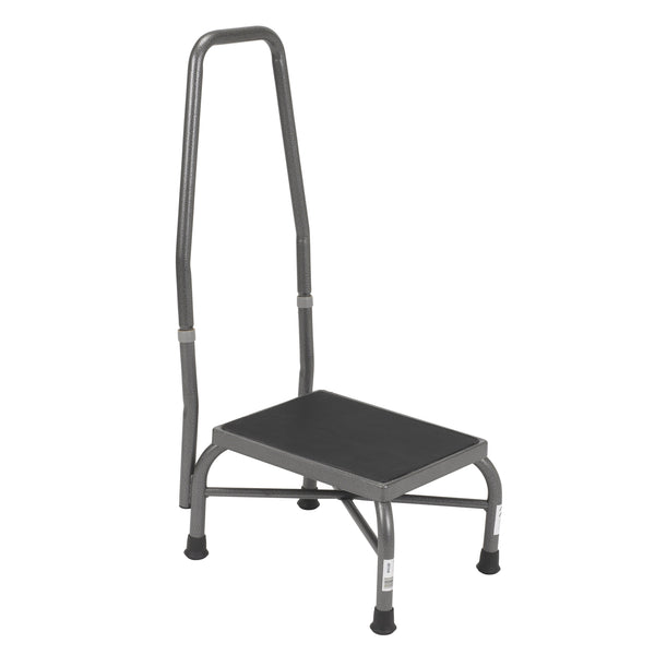 Heavy Duty Bariatric Footstool with Non Skid Rubber Platform and Handrail - Discount Homecare & Mobility Products