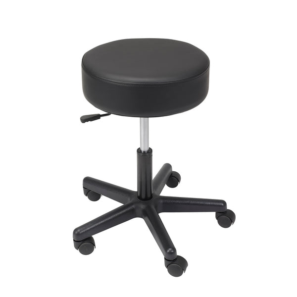 Padded Seat Revolving Pneumatic Adjustable Height Stool, Plastic Base - Discount Homecare & Mobility Products