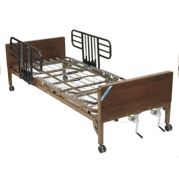 Multi Height Manual Hospital Bed with Half Rails - Discount Homecare & Mobility Products
