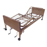 Semi Electric Hospital Bed with Half Rails and Innerspring Mattress - Discount Homecare & Mobility Products