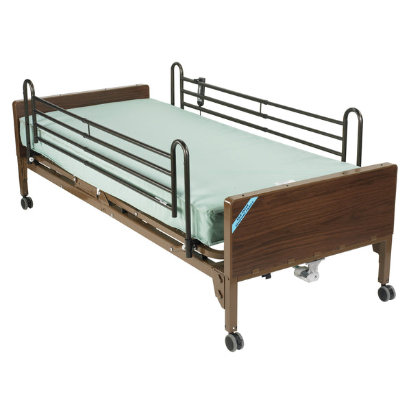 Semi Electric Hospital Bed with Full Rails and Innerspring Mattress - Discount Homecare & Mobility Products