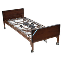 Delta Ultra Light Semi Electric Hospital Bed with Full Rails and Foam Mattress - Discount Homecare & Mobility Products