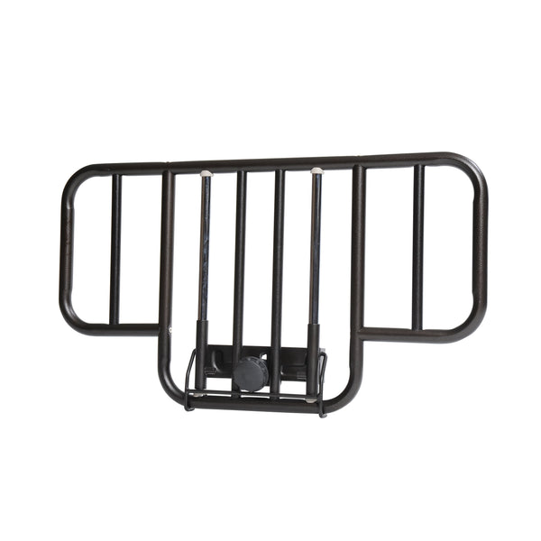 No Gap Half Length Side Bed Rails with Brown Vein Finish, 1 Pair - Discount Homecare & Mobility Products