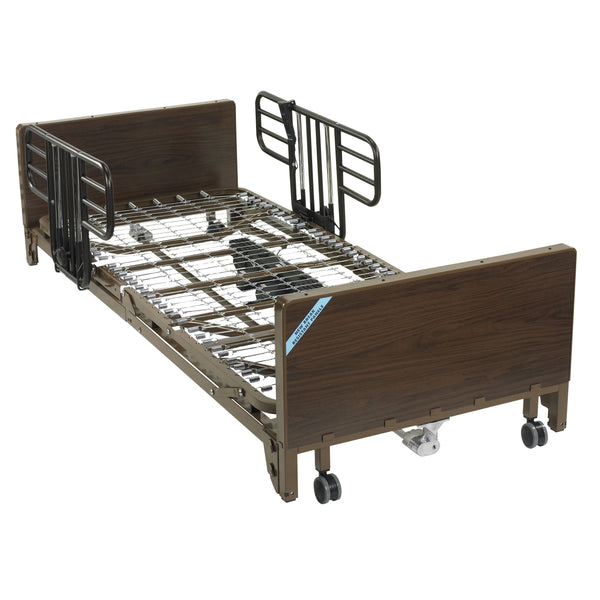 Delta Ultra Light Full Electric Low Hospital Bed with Half Rails - Discount Homecare & Mobility Products