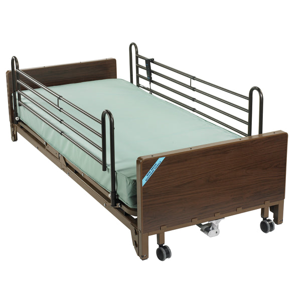 Delta Ultra Light Full Electric Low Hospital Bed with Full Rails and Innerspring Mattress - Discount Homecare & Mobility Products