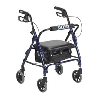 Junior Rollator Rolling Walker with Padded Seat, Blue - Discount Homecare & Mobility Products