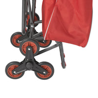 Deluxe Rolling Shopping Cart with Seat, Red - Discount Homecare & Mobility Products